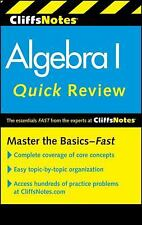 CliffsNotes Algebra I Quick Review, 2nd Edition (Cliffs Quick Review (Paperback)
