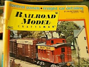 Railroad Model  Magazine October 1980 Freight Car detailing and more