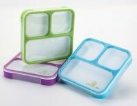 Bento Lunch Box- Stylish Leakproof Lunch Kit with 3 Compartment- Kid & Adult Use