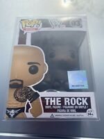 Funko POP! WWE The Rock Vinyl Figure #03 Rare Vaulted In Protector