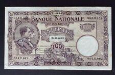 Belgique - Très Joli billet de 100 Francs du  11-01-1924  - Crispy