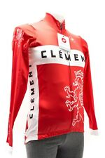 Castelli Clement Long Sleeve Thermal Cycling Jersey Men MEDIUM Red Road Bike CX