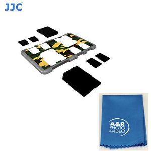 JJC MCH-SDMSD6YG Memory card Holder fit 2 SD Cards + 4 Micro SD card Credit card