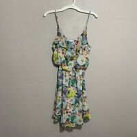 Lush Floral Spaghetti Strap Summer Floral Dress Sz Small S