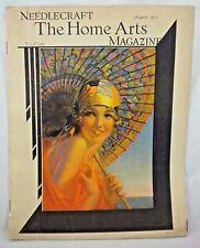 Needlecraft Home Arts Magazine 1933 Edward Mason Eggleston Cover Art Deco Sewing