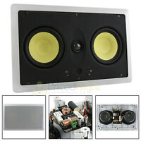 """Dual 5.25"""" In Wall Center Channel Speaker 200W 8 Ohm MTX Home Theater TP2525LCR"""