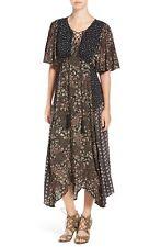 Ella Moss Floral Patchwork Maxi Dress Medium New With Tags