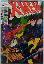 X-Men #59 (Aug 1969, Marvel), VFN, X-Men vs. the Sentinels, Neal Adams art