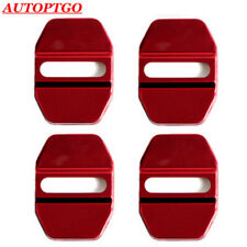 W/LOGO Red Door Lock Cover Cap For Most of Mercedes-Benz AMG B C E S GLA GLK A G