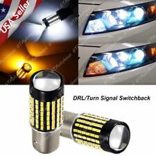 Bright Switchback LED Front Turn Signal Light Bulbs for Honda Accord Sedan 98-15