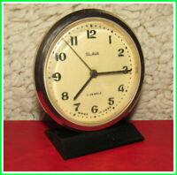 Modern Mechanical Alarm Clock Slava 11 Jewels Russian USSR Soviet 1960 #181213