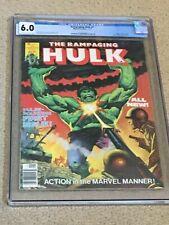 Rampaging Hulk 1 CGC 6.0 OW/White Pages (Classic Hulk-Sized Magazine from 1976!)