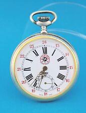 "Taschenuhr "" HEBE "" ANCRE 1A pocket watch 48 mm Eisenbahn Logo ETA 6497-1  TOP"