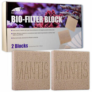 Mantis Bio-Filter Block Filter Media Ammonia Nitrate Fresh Marine Aquarium Pond