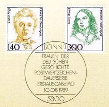 BRD 1989: Cécile Voigt und Fanny Hensel Nr. 1432+1433 mit Bonner Sonderstempel1A