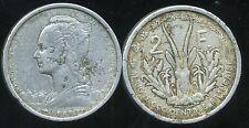 AFRIQUE OCCIDENTALE FRANCAISE   2  francs   1948