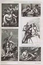Magdalen-Playing Dice-Camblers 17th & 18th Century Italian Painting PRANG 1879