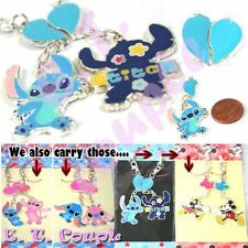 Blue Heart Design Baby Stitch pair couple keyring/chain