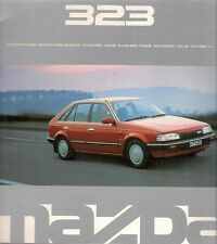 Mazda 323 1989 UK Market Sales Brochure Javelin SX GLX Executive 1.6i Turbo 4x4