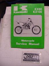 Kawasaki 91 KX80 KX100 KX 80 100 Decent OEM Shop Service Manual 99924-1144-01