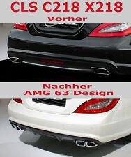 Mercedes Benz CLS 218 New AMG63 Sport Endrohre Look für AMG Stylingpaket
