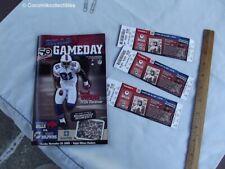 Nov 2009 Buffalo Bills Game Day Program v Miami Dolphins 3 Tickets Terrell Owens