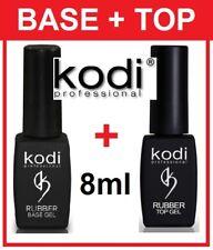 2pcs! SALE 15%! 8ml. Rubber TOP + BASE Kodi Professional - Gel LED/UV