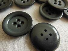 lot 6 gros Boutons vintage 4 trous manteau diamètre 2,6 cm ancien ref 1750