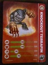 Knockout Terrafin Skylanders Swap Force Stat Card Only!