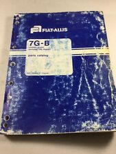 Fiat Allis 7g B Crawler Loader Parts Catalog