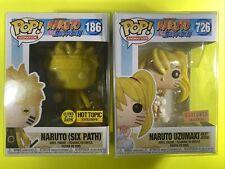 Naruto Six Path 186 GITD Uzumaki Sexy Jitsu 726 Funko Pop Exclusives Bundle