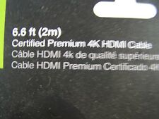 Iogear 6.6 ft 2m Certified Premium 4K HDMI Cable HDR 18 GBPS