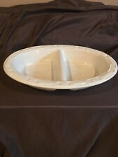 Longaberger Woven Traditions Ivory Divided Serving Dush 13x9