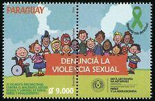Paraguay 2016 Gegen sexuelle Gewalt an Kindern Kinder Children ** MNH