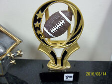 "Football trophy or award, about 6"" tall, engraving included, New Design!"