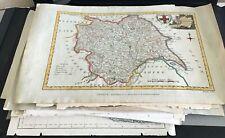 Portfolio of a Large collection (69) of Antique / Vintage maps UK & World Bargin