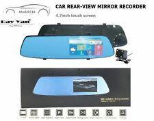 170° Dual Lens Touch Screen Car DVR Rearview Mirror Camera Dash Cam Recorder