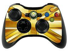 Gold Union Jack Xbox 360 Remote Controller/Sticker Skin / Cover / Vinyl xbr14
