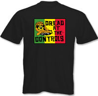 Dread At The Controls - Mens T-Shirt - Mikey The Clash Reggae Record Label
