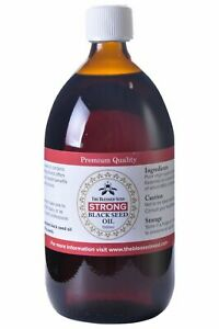 The Blessed Seed Black Seed Oil Strong 1000ml - Pure Black Cumin Seed Oil
