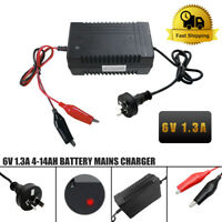 6V Sealed Lead Acid Rechargeable Car Battery Charger Adapter Output 7.5V AU plug