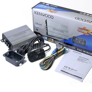 KENWOOD KAC-M1824BT 4-CHANNEL BLUETOOTH BOAT MARINE MOTORCYCLE AMP KACM1824BT