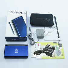 Brand New Blue Cobalt & Black Nintendo DS Lite HandHeld Console System + gifts