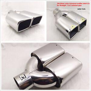 "Chrome Stainless Steel 63mm 2.5""  Slant Cut Car Exhaust Muffler Tip Universal"