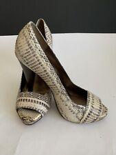 Womens Aldo Snakeskin Peep Toe High Heel Pump Shoes Size EU 37 US 6.5