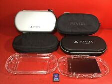 PS Vita Japan Semi Hard Pouch Case cover PlayStation for PCH-1000/2000 Black set