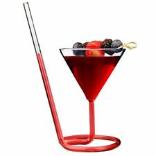 Cocktail Glass Spiral Straw Party Creative Goblet Martini Champagne Wine Cup