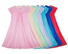 Women's Lace Nylon Sleeveless Nightgown Sleepwear #9046- M L XL 2X