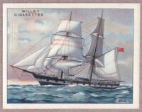 Sail Rigging Brig Square Rigged Mast Sailboat Ship 1920s Ad Trade Card