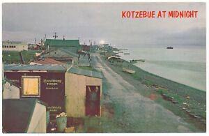 Qikiqtaġruk Alaska Midnight Sun Baldwin Peninsula Kotzebue Sound AK Postcard
